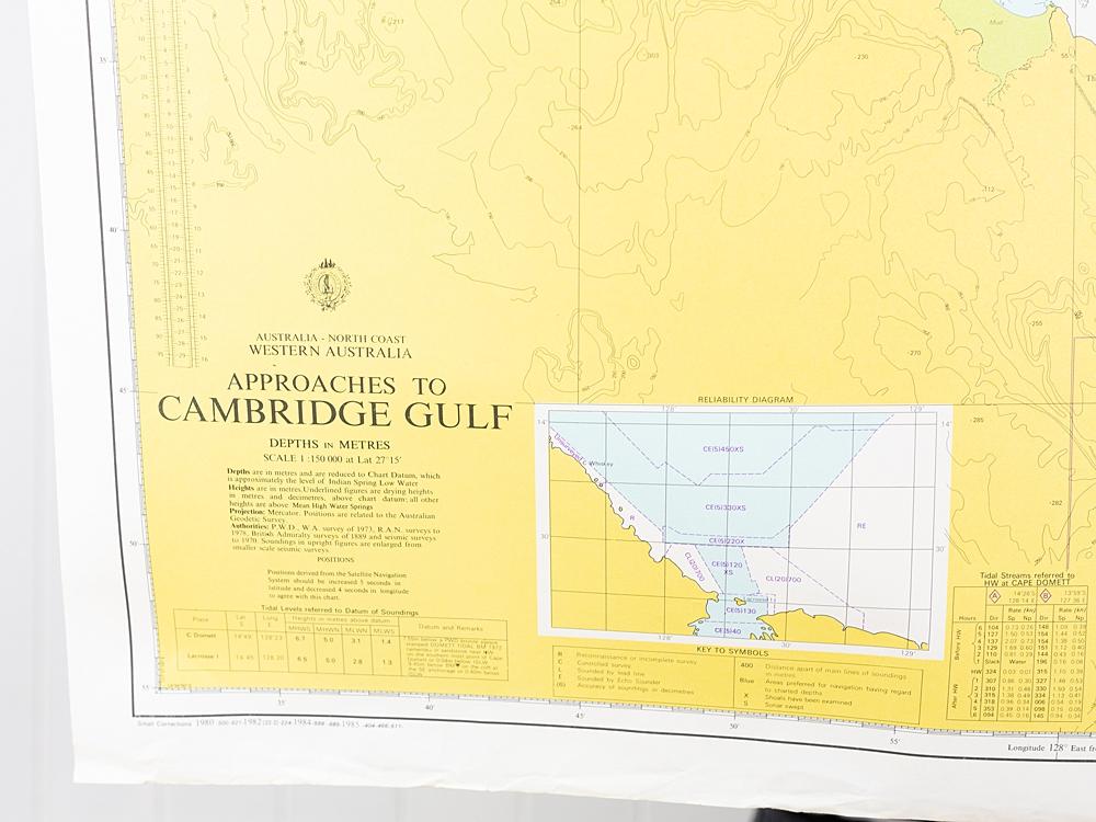 WA - Approaches to  Cambridge Gulf Chart/Map