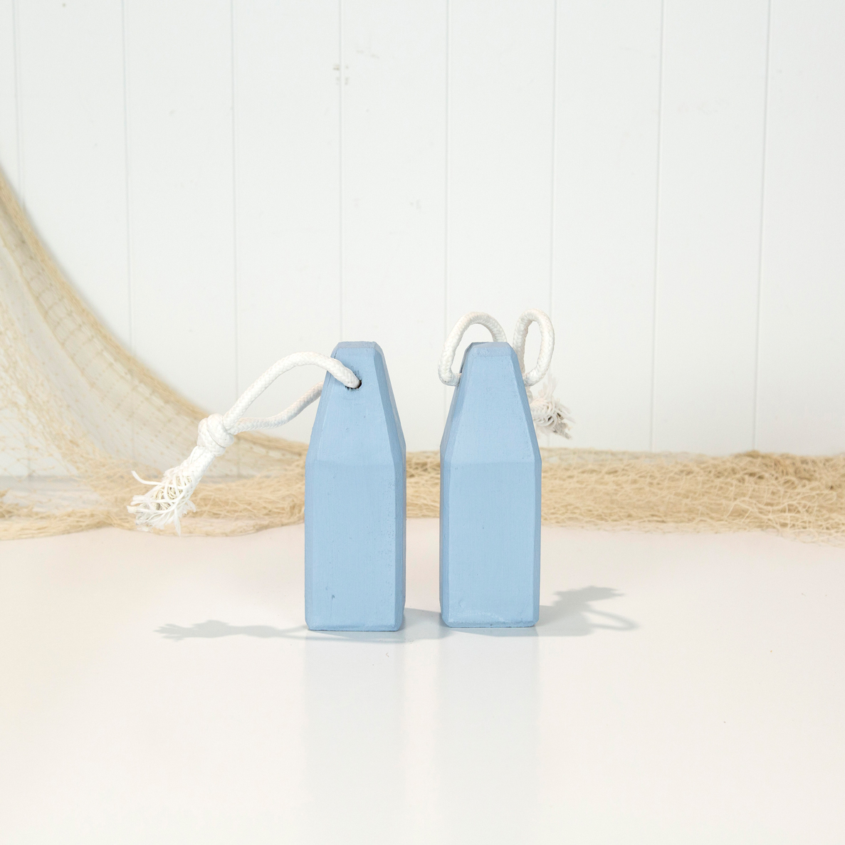 Painted Wooden Buoy - French Blue