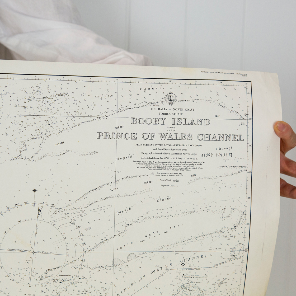 Torres Strait - Booby Island to Prince of Wales Channel Chart/Map