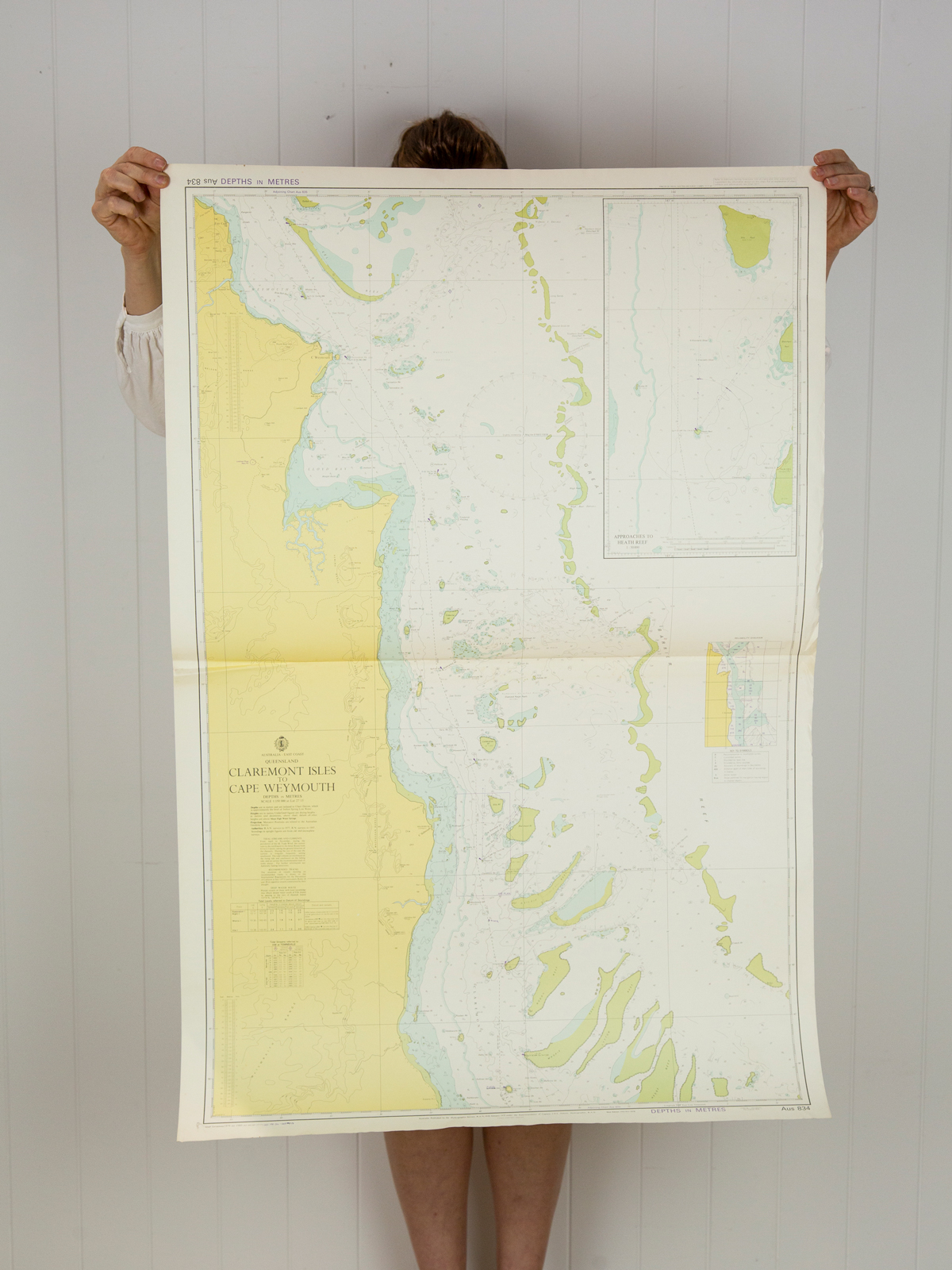 QLD - Claremont Isles to Cape Weymouth (1983) Chart/Map