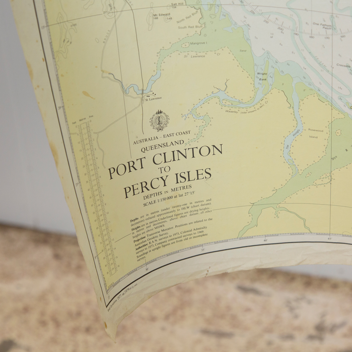 QLD -  Point Clinton to Percy Isles Chart/Map