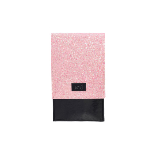 Candy pink brush holder for personal make-up brushes
