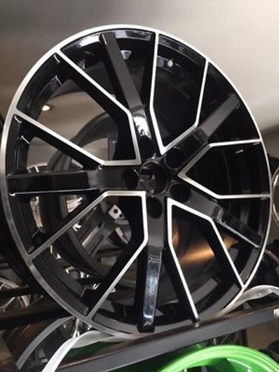 19 X 4 Rs6 D Black Pol Alloy Wheels Audi A5 A6 S5 A7 Q5 Q3 Hotline Tyres