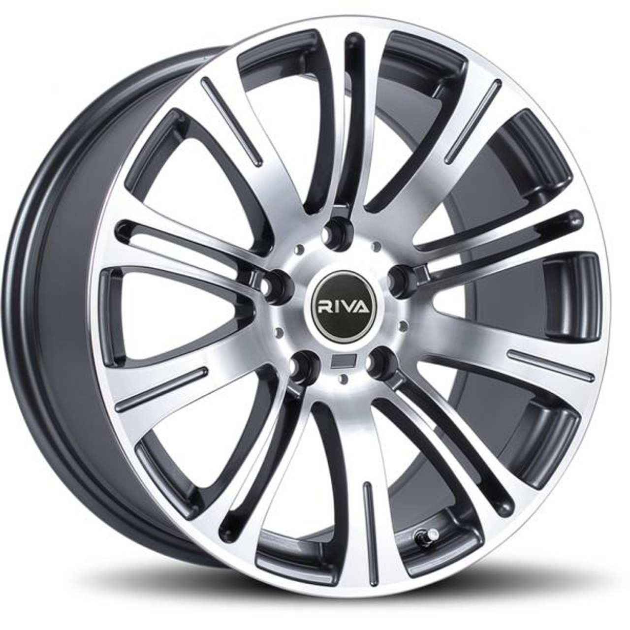 RIVA MVR Alloy Wheels Gunmetal / Machined Face