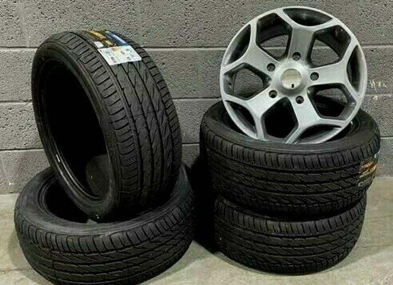"18""gloss grey st style Ford Transit/custom/tourneo Alloy Wheels 5000kg Van Tyres"