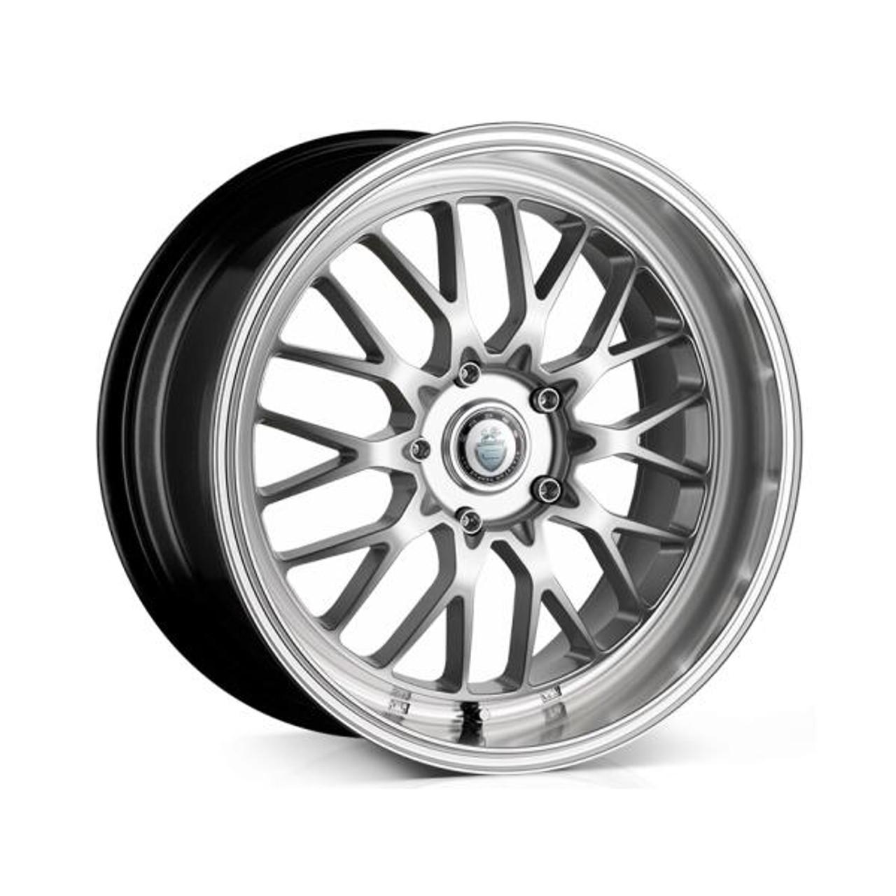 Cades Tyrus Alloy Wheels Silver Lip Polish