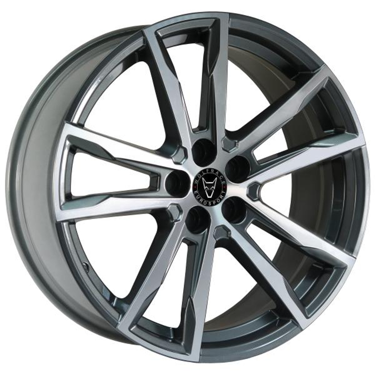 Wolfrace Eurosport Dortmund Alloy Wheels Gunmetal / Polished