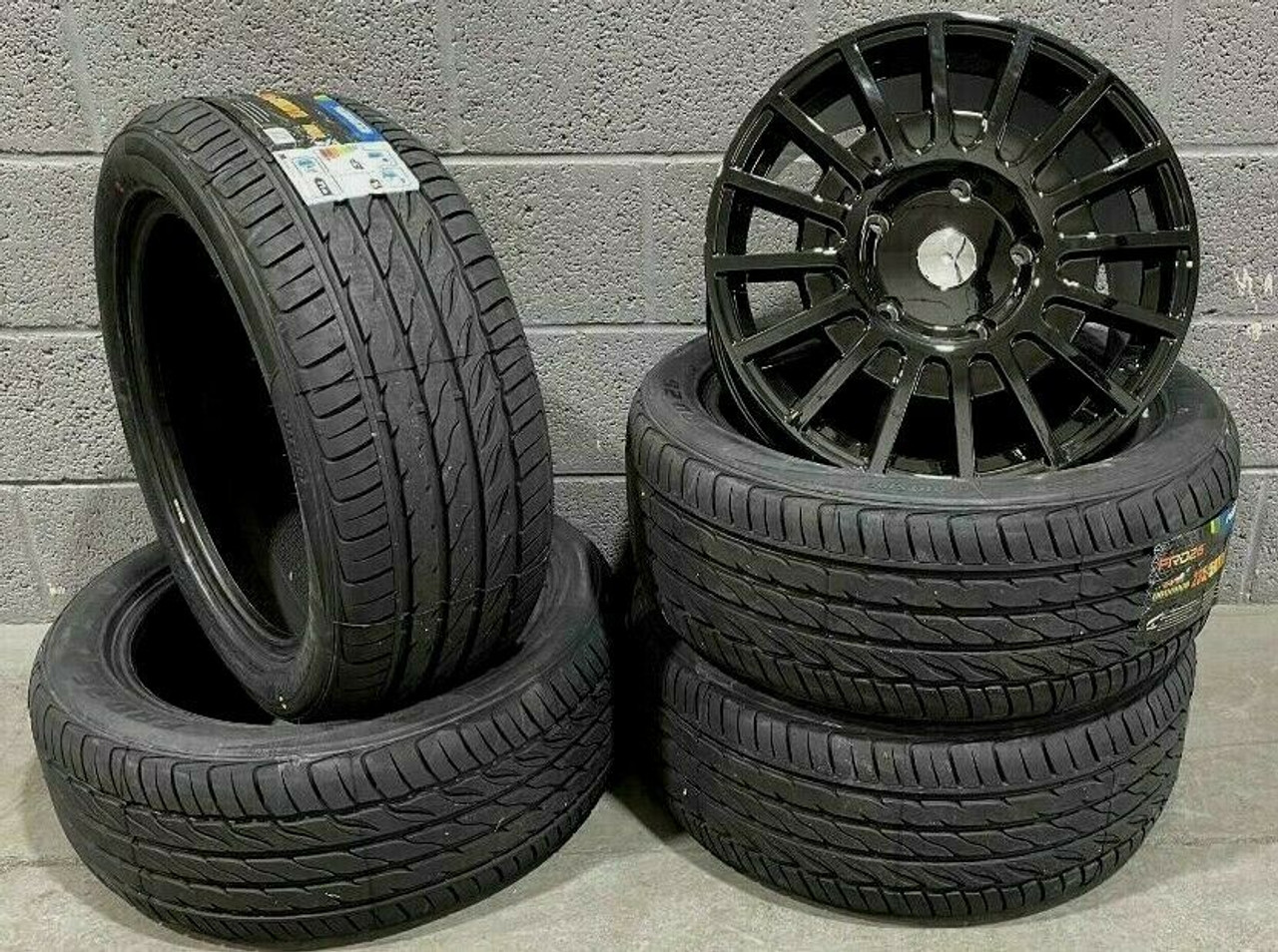 """18""""gloss black sport Ford Transit / custom Alloy Wheel-Commercial Van with tyres"""