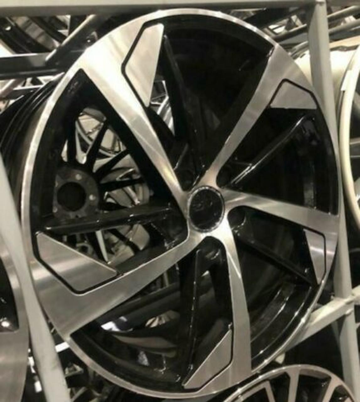 """19""""black pol 7 alloy wheels vw golf audi/vw/tt/t4/a4/a3/a6/skoda"""