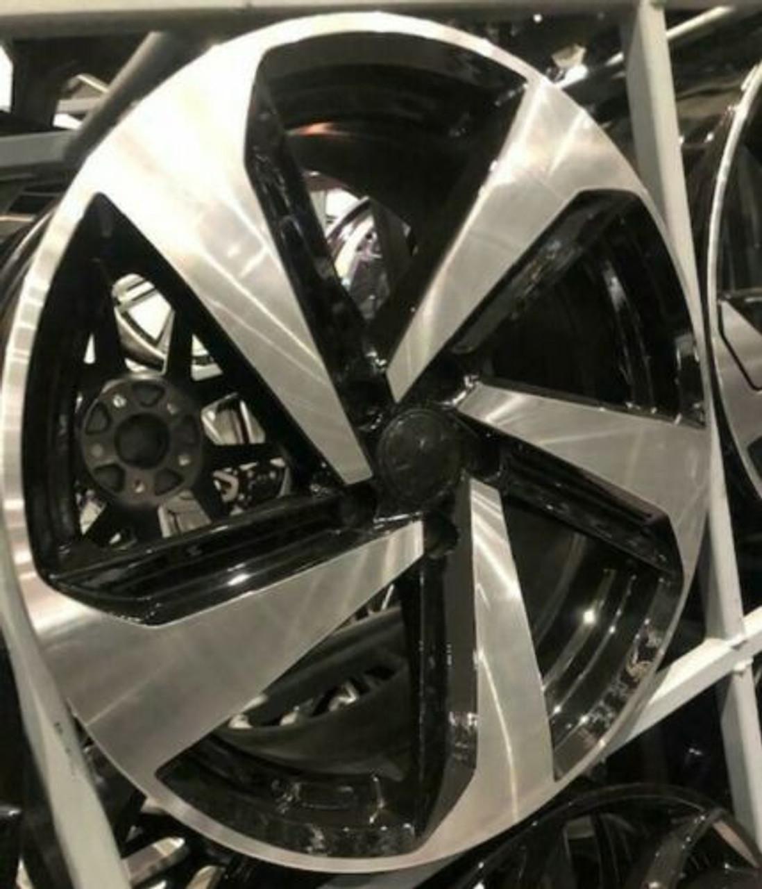 "19""2019 gti black pol alloy wheels audi/vw/tt/t4/a4/a3/a6/golf/seat"
