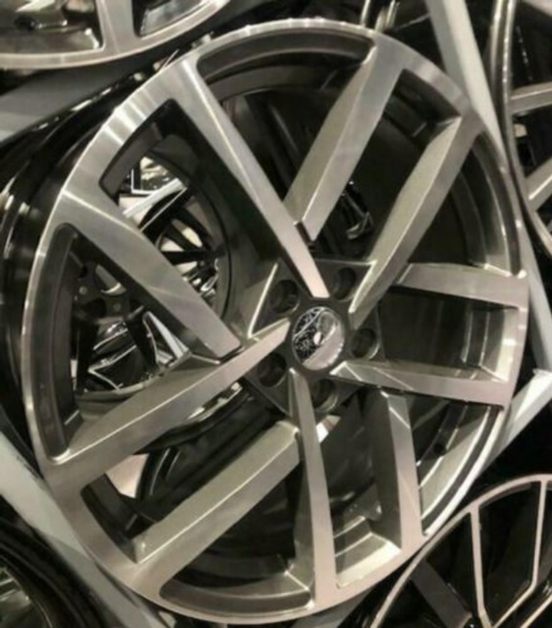 "19""vancouver grey pol gti alloy wheels audi/vw/tt/t4/a4/a3/a6/golf/seat"