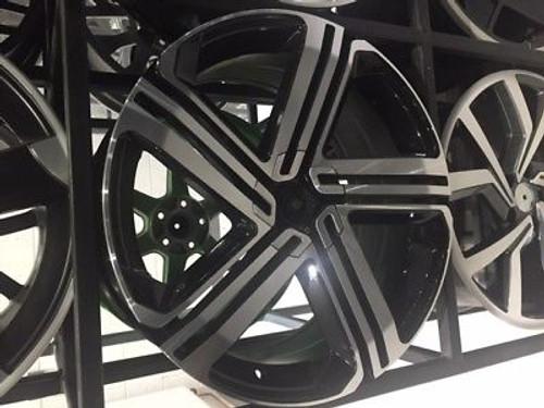 "19""new gti black pol alloy wheels audi/vw/tt/t4/a4/a3/a6/skoda/seat"