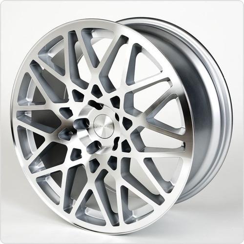 "19""roti silver pol alloy wheels audi/vw/tt/t4/a4/a3/a6/skoda/seat/"
