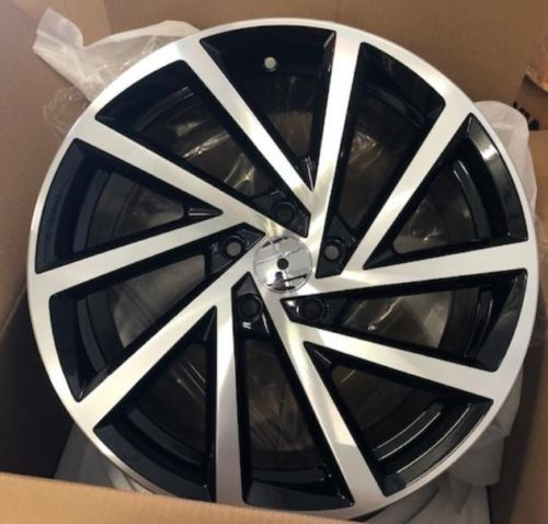 "17""club sport black alloy wheels vw golf audi/vw/tt/t4/a4/a3/a6/skoda"