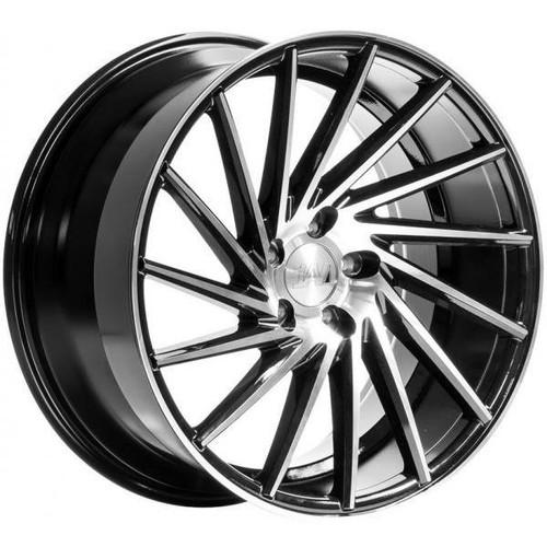 1AV ZX1 Alloy Wheels Black/Polished Face