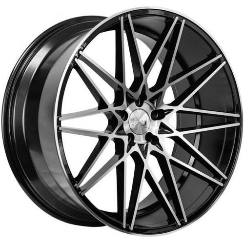1AV ZX4 Alloy Wheels Black/Polished Face