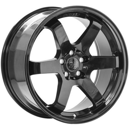 1AV ZX6 Alloy Wheels GLOSS BLACK