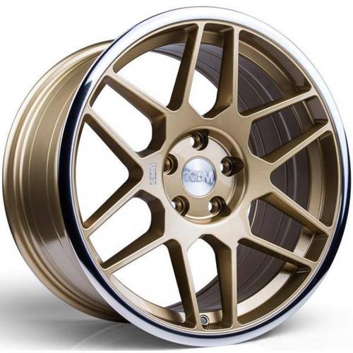 3SDM 0.09 Alloy Wheels Gold / Mirror Polished Lip