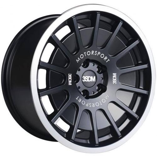 3SDM 0.66 Alloy Wheels Matt Black / Mirror Polished Lip