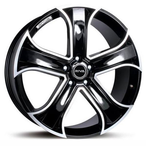 RIVA RVR Alloy Wheels Gloss Black / polished Face