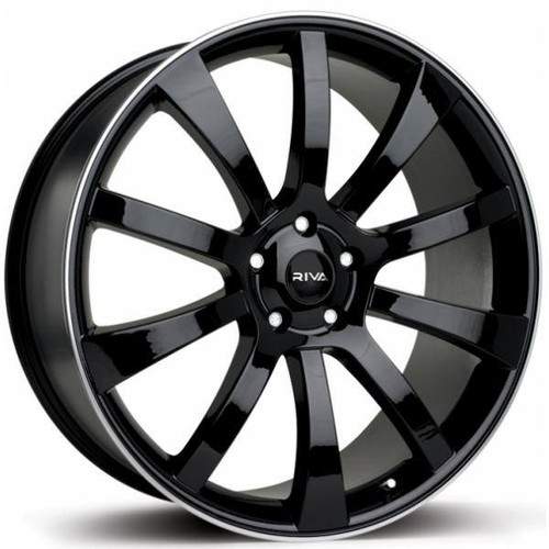 RIVA SUV Alloy Wheels Gloss Black / polished Lip