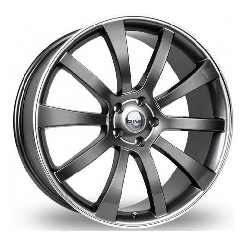RIVA SUV Alloy Wheels Gloss Grey / polished Lip