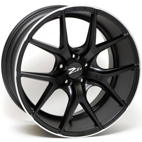 Zito ZS05 Alloy Wheels Satin Black Lip Polished