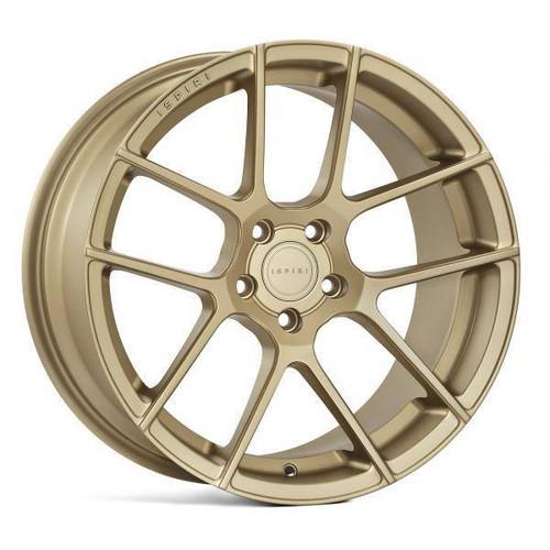 Ispiri ISR6 Alloy Wheels Matt Carbon Gold