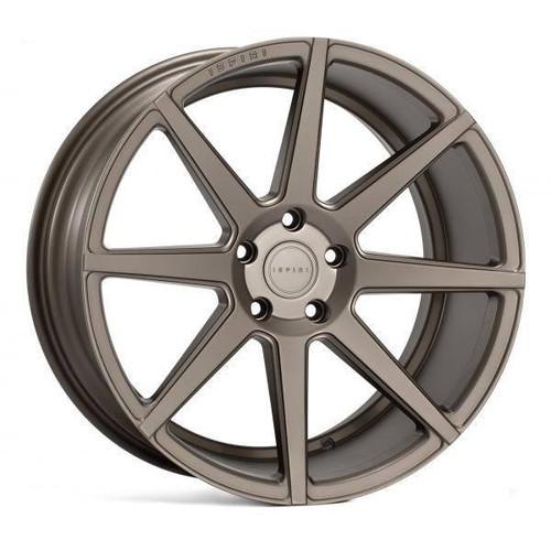 Ispiri ISR8 Alloy Wheels Matt Carbon Gold