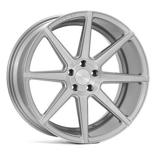 Ispiri ISR8 Alloy Wheels Pure Silver Brushed