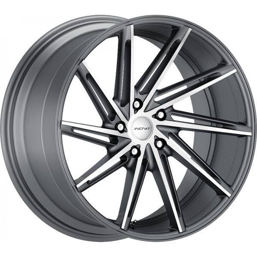 Inovit Turbine Alloy Wheels Gunmetal Machined Face