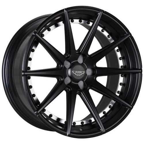 Copy of Judd T311 Alloy Wheels Matt Gunmetal Black Rivets