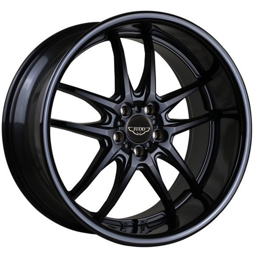 "Judd T404 Alloy Wheels Matt Black With 2.5"" Lip Fitted (various Colours)"