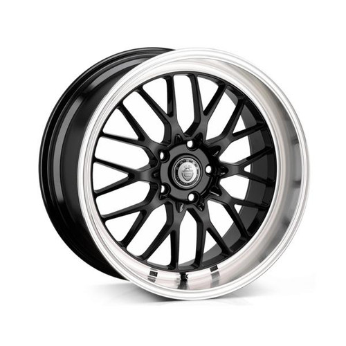 Cades Tyrus Alloy Wheels Black Lip Polish