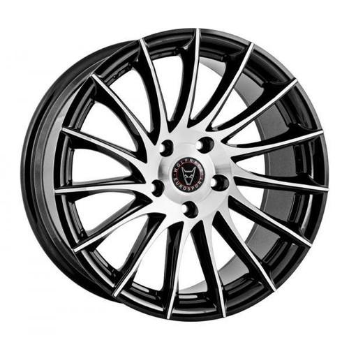 Wolfrace Eurosport Aero Alloy Wheels Gloss Black / Polished
