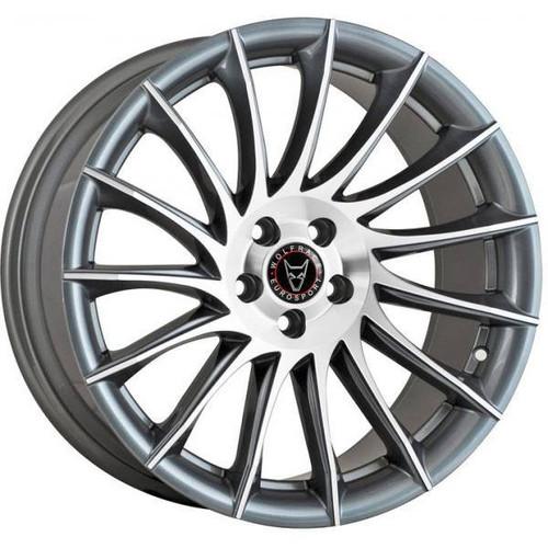 Wolfrace Eurosport Aero Alloy Wheels Gunmetal / Polished
