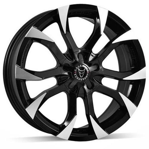 Wolfrace Eurosport Assassin Alloy Wheels Gloss Black / Polished