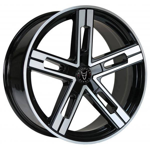 Wolfrace Eurosport Stuttgart Ultra Concave Alloy Wheels Gloss Black / Polished