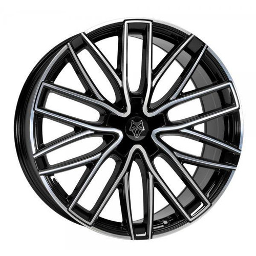 Wolf Design GTP Alloy Wheels Gloss Black / Polished