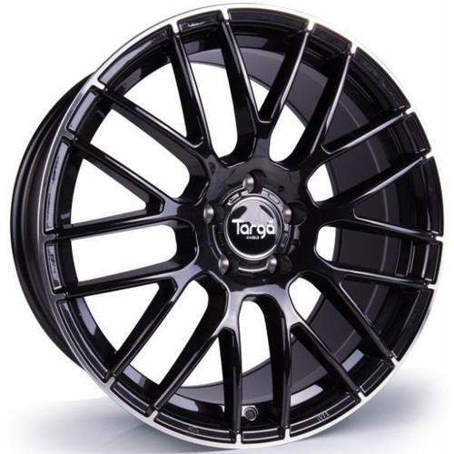 Targa TG2 Alloy Wheels Gloss Black / Polished Lip Tip