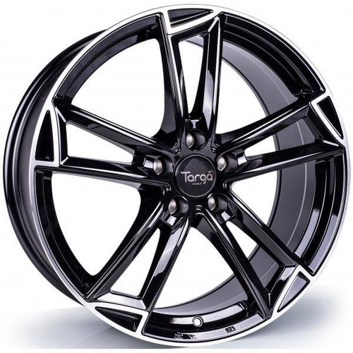 Targa TG3 Alloy Wheels Gloss Black / Polished Lip