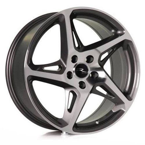 River R4 Alloy Wheels Gunmetal / Polished Face