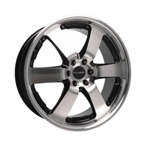 Dare Outlaw Alloy Wheels Black / Polished Face