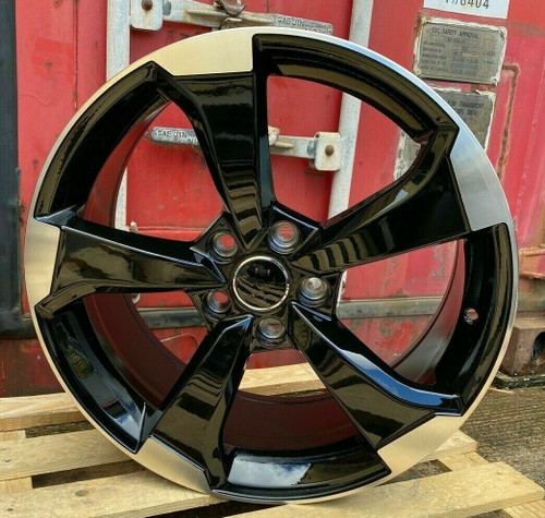 "19""New Rotor black polish  Alloy Wheels fits Audi A5"