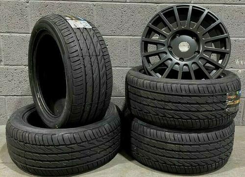 """18""""black Matt Sport Ford Transit Alloy Wheels L Rated Van MK6/MK7/MK8-st & tyres"""
