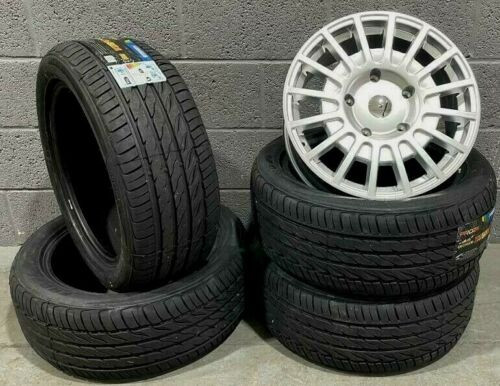 """18""""silver Sport Ford Transit Alloy Wheels Rated Van MK6 /MK7/MK8-st with tyres"""