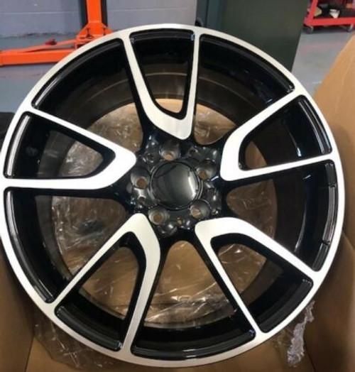 "19""black pol audi vw Mercedes Benz c/e/s class c63 Alloy Wheels Wider Rear"