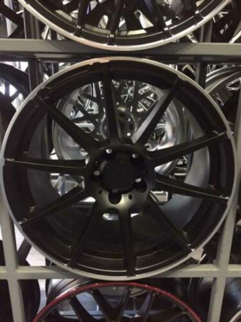 """19""""matt black alloy wheels audi/vw/passat/mercedes/vauxhall 8.5/9.5"""