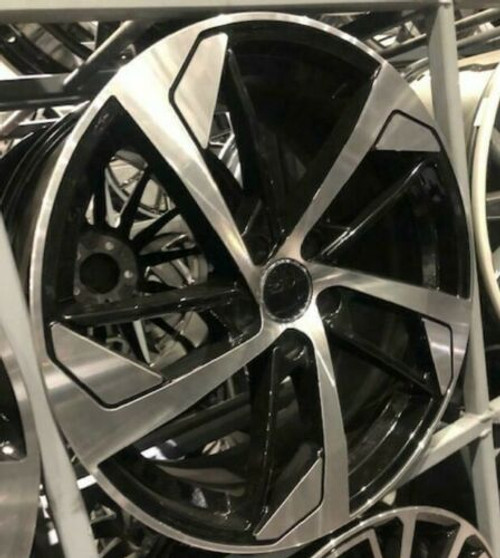 "19""black pol 7 alloy wheels vw golf audi/vw/tt/t4/a4/a3/a6/skoda"