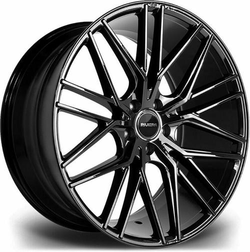 "22""riviera rv130 alloy wheels black range rover sport discovery vogue bmw x5/x6"